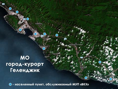 Карта Геленжика